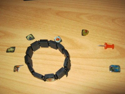 How to make a cabochon bracelet. Saint Bracelet In A Different Way - Step 1
