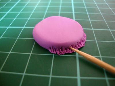 How to sculpt a clay macaron. Diy French Macaron Keyrings - Step 6