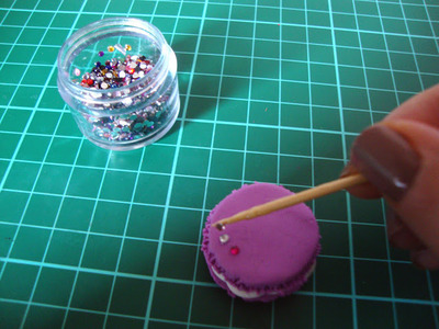 How to sculpt a clay macaron. Diy French Macaron Keyrings - Step 15