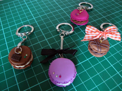 How to sculpt a clay macaron. Diy French Macaron Keyrings - Step 18