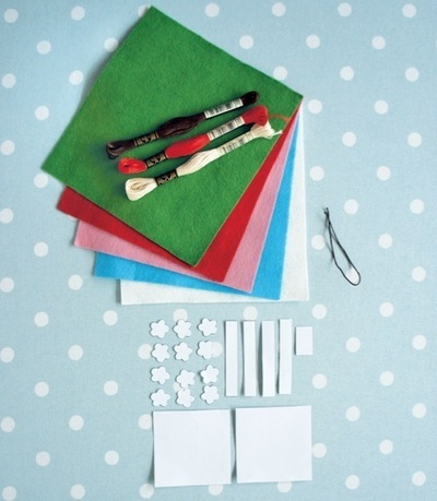 How to make a Christmas decoration. Gift Wrapped Present - Step 1