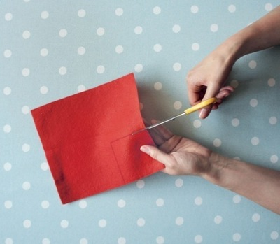How to make a Christmas decoration. Gift Wrapped Present - Step 3
