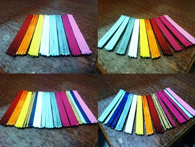 How to make a paper necklace. Statement Necklace - Step 2