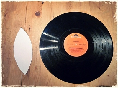 How to make a cuff earring. Torn Paper Vinyl Record Cuff Part I - Step 1