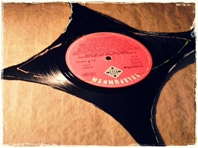 How to make a cuff earring. Torn Paper Vinyl Record Cuff Part I - Step 3