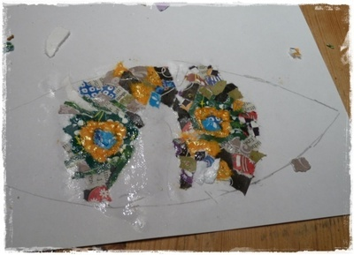 How to make a cuff earring. Torn Paper Vinyl Record Cuff Part 2 - Step 7