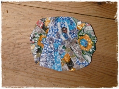 How to make a cuff earring. Torn Paper Vinyl Record Cuff Part 2 - Step 11