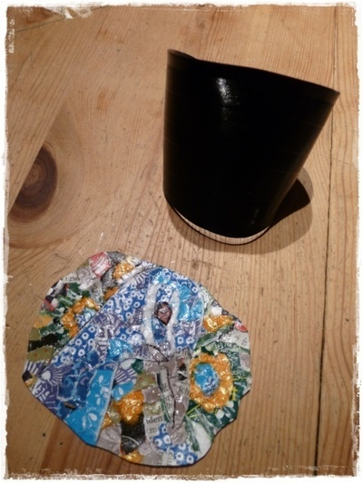 How to make a cuff earring. Torn Paper Vinyl Record Cuff Part 2 - Step 12