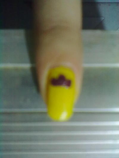 How to paint a food nail. Ice Cream Nail Art - Step 3