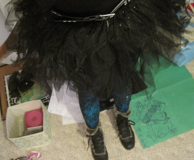 How to make a full costume. Black Angel Tutu Outfit - Step 3