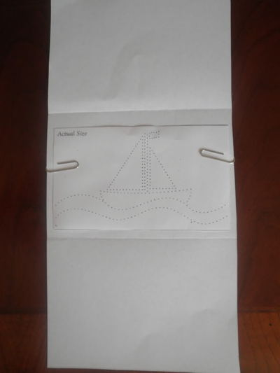 How to make a stitched card. Sewn Cards. Transferring The Pattern - Step 2