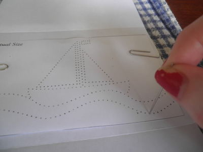 How to make a stitched card. Sewn Cards. Transferring The Pattern - Step 3