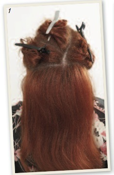 How to style a victory roll. Victory Rolls - Step 2