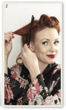 How to style a victory roll. Victory Rolls - Step 3