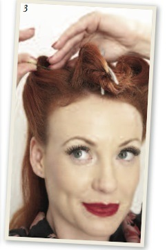 How to style a victory roll. Victory Rolls - Step 4