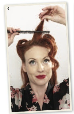 How to style a victory roll. Victory Rolls - Step 5