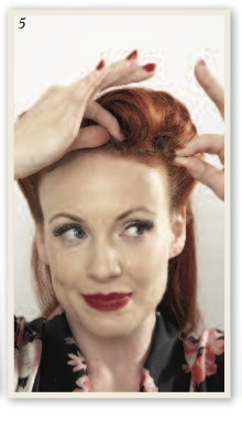 How to style a victory roll. Victory Rolls - Step 6