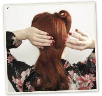 How to style a victory roll. Victory Rolls - Step 8
