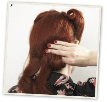 How to style a victory roll. Victory Rolls - Step 10