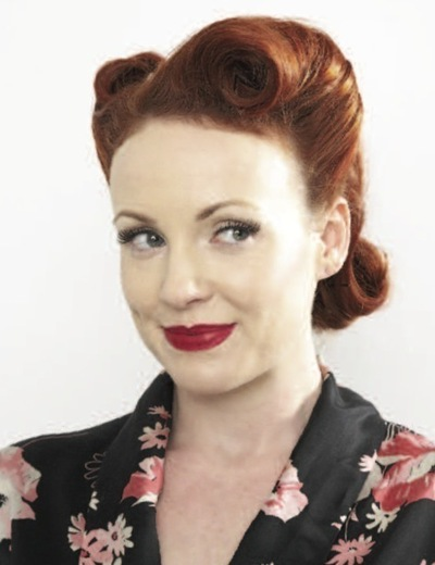 How to style a victory roll. Victory Rolls - Step 11