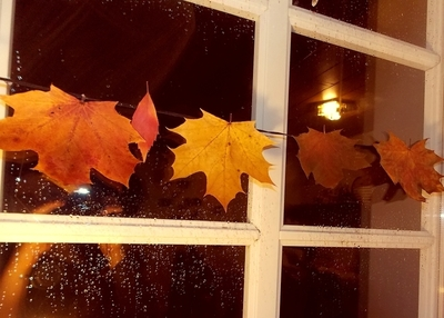 How to make a votive / candle holder. Autumnal Leaves Candle Holder - Step 4