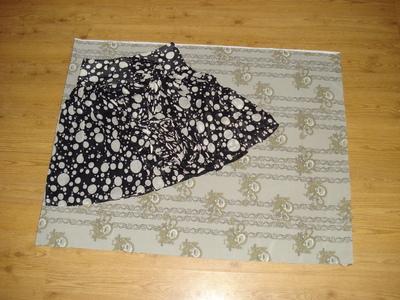 How to sew an asymmetrical skirt. A Pretty Asymmetrical Skirt - Step 2