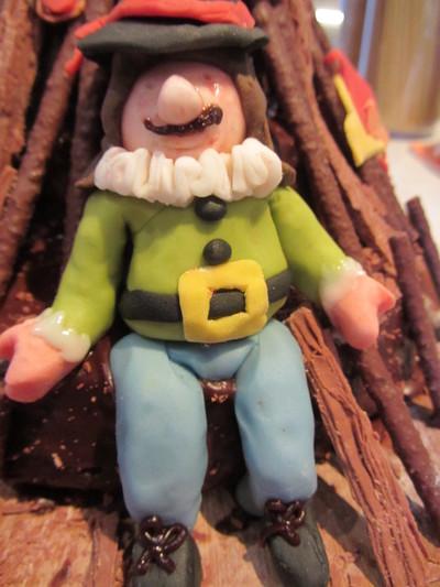 How to decorate a seasonal cake. Bonfire Night Cake - Step 5