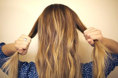 How to style a bow bun. Hair Bow - Step 1