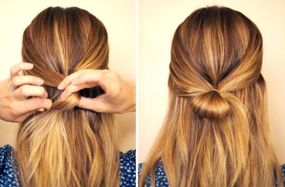 How to style a bow bun. Hair Bow - Step 2