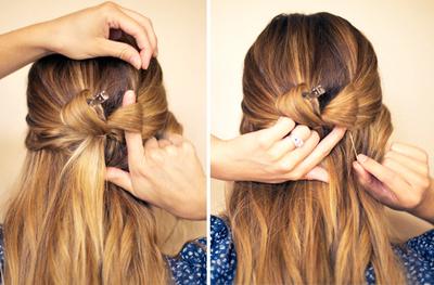 How to style a bow bun. Hair Bow - Step 4