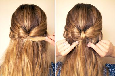 How to style a bow bun. Hair Bow - Step 5