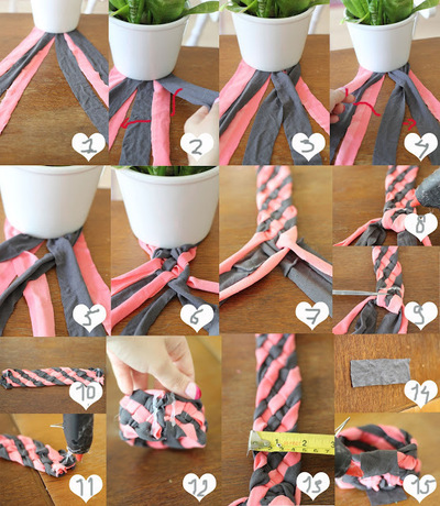 How to make a t-shirt bracelet. Upcycle Your Old Shirt Into A Bracelet - Step 1