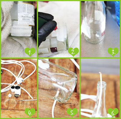 How to make a bottle lamp. Bottle Lamp Diy - Step 1