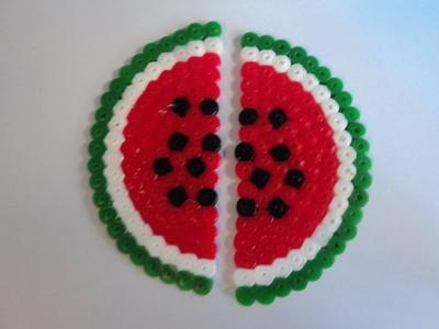How to make a pair of pegboard bead earrings. Watermelon Earrings - Step 3