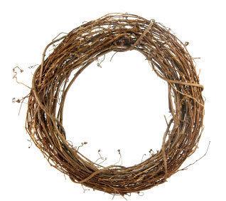 How to make a bauble wreath. Fancy Christmas Wreath Cheap - Step 1