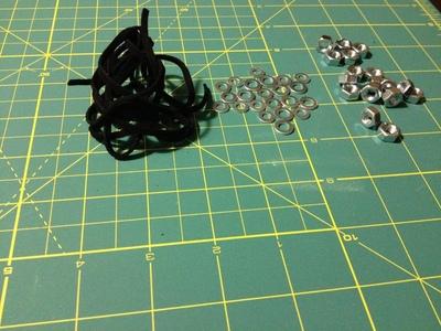 How to make a hardware bracelet. Bracelets Nuts And Washers - Step 1