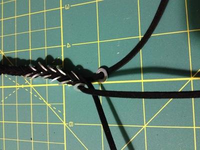 How to make a hardware bracelet. Bracelets Nuts And Washers - Step 4