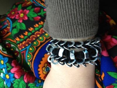 How to make a hardware bracelet. Bracelets Nuts And Washers - Step 6