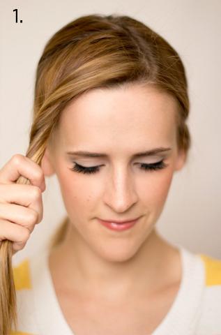 How to style a side braid. Twist Braid - Step 1