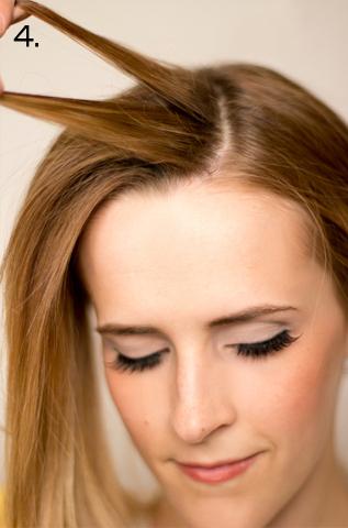 How to style a side braid. Twist Braid - Step 4