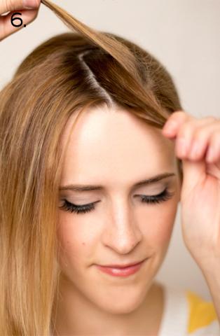 How to style a side braid. Twist Braid - Step 6