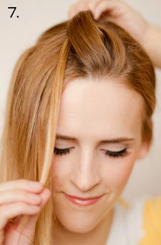 How to style a side braid. Twist Braid - Step 7