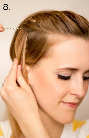 How to style a side braid. Twist Braid - Step 8