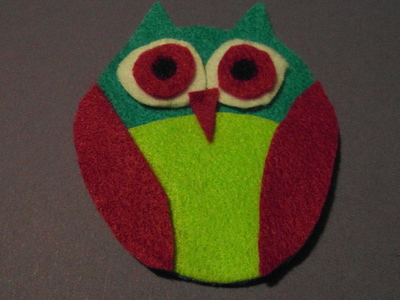 How to sew a fabric animal brooch. Felt Owl Brooch - Step 11