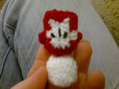 How to make a character plushie. Red Castle Crashers Knight - Step 8