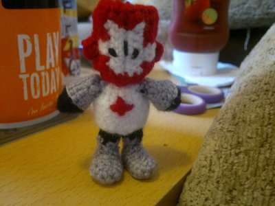 How to make a character plushie. Red Castle Crashers Knight - Step 15
