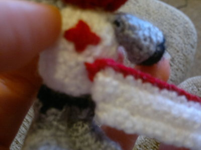 How to make a character plushie. Red Castle Crashers Knight - Step 17