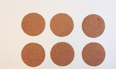 How to make a cork coaster. Diy Stamped Coasters - Step 1