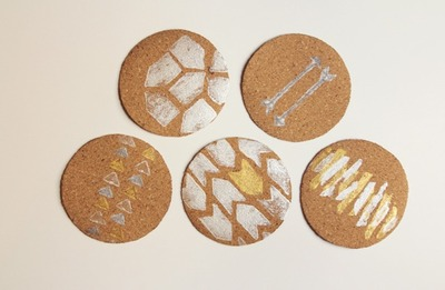 How to make a cork coaster. Diy Stamped Coasters - Step 3