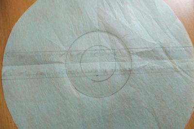 How to make a novetly bag. Pokeball Shoulder Bag - Step 2
